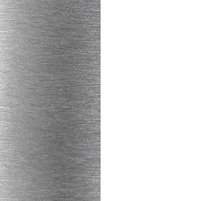 BWH - Brushed Aluminum/White