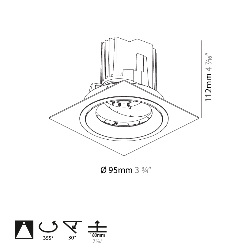 Bioniq by Prolicht – 3 3/4″ x 4 7/16″ , Downlight offers LED lighting solutions   Zaneen Architectural
