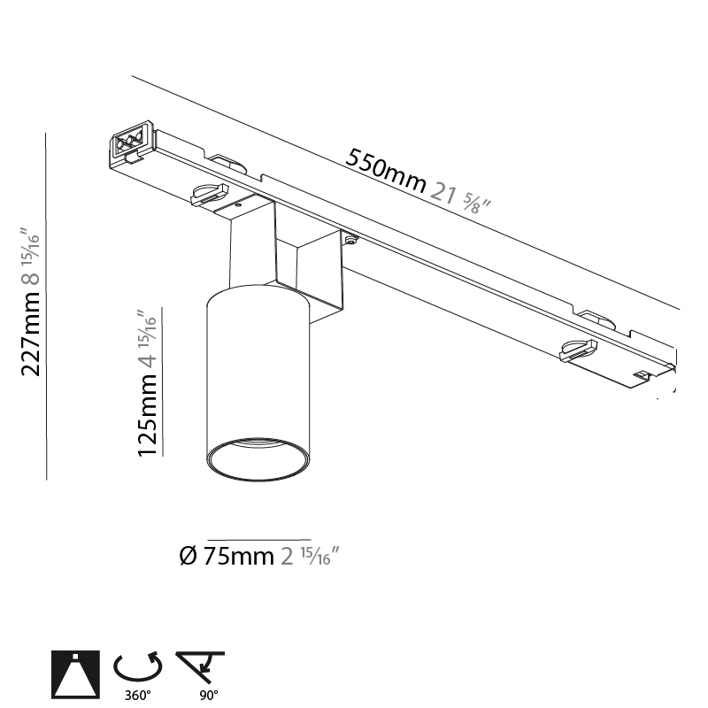 Centriq by Prolicht – 2 15/16″21 5/8″ x 4 15/16″ ,  offers LED lighting solutions | Zaneen Architectural