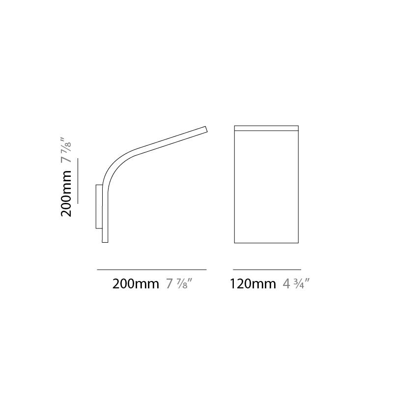 APP by Panzeri –  x 7 7/8″ Surface, Uplight offers quality European interior lighting design   Zaneen Design / Line art
