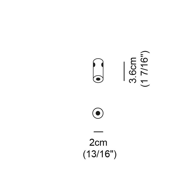 Acqua by Cini & Nils – 13 /16″ x 1 7/16″ , Modular offers quality European interior lighting design | Zaneen Design