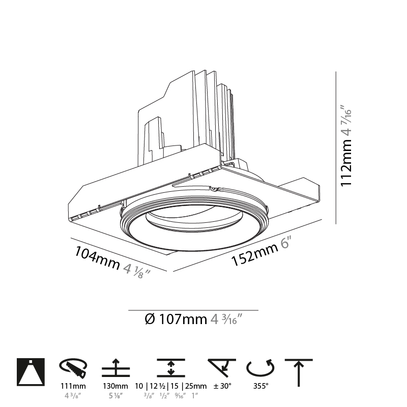 Bioniq by Prolicht – 4 3/16″ x 4 7/16″ Trimless, Downlight offers LED lighting solutions   Zaneen Architectural