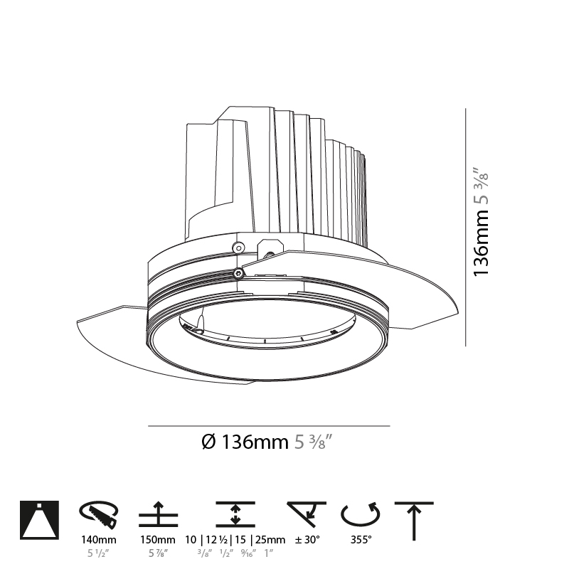 Bioniq by Prolicht – 5 3/8″ x 5 3/8″ Trimless, Downlight offers LED lighting solutions   Zaneen Architectural