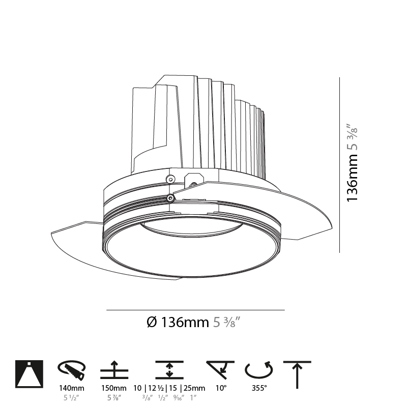 Bioniq by Prolicht – 5 3/8″ x 5 3/8″ Trimless, Downlight offers LED lighting solutions | Zaneen Architectural
