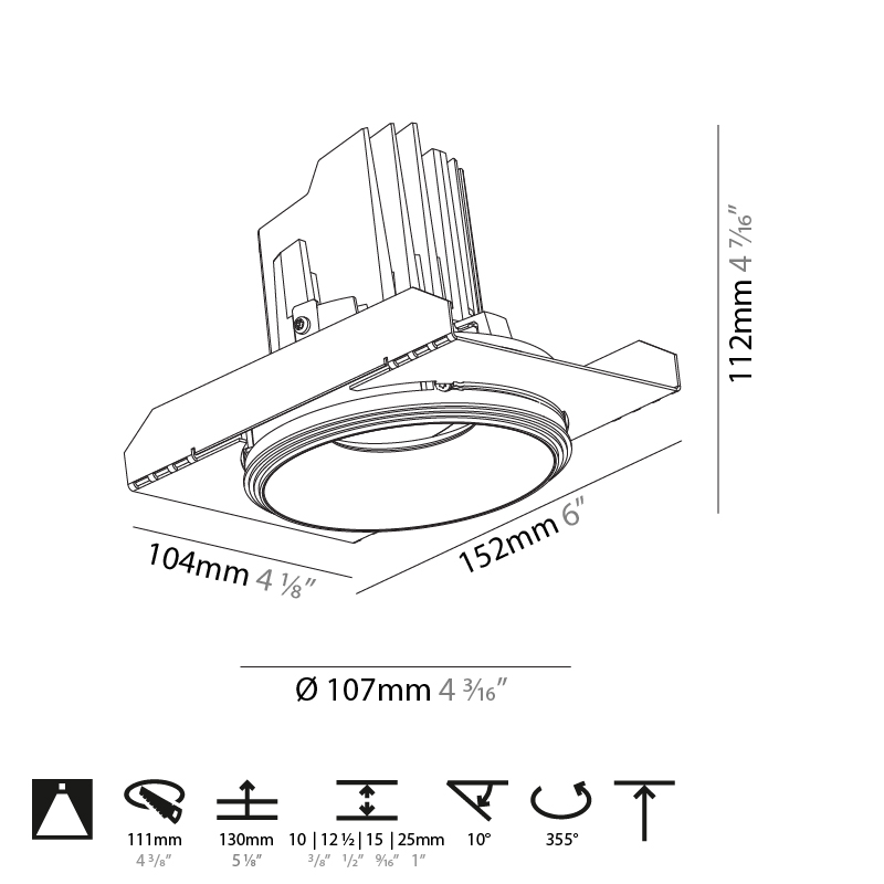 Bioniq by Prolicht – 4 3/16″ x 4 7/16″ Trimless, Downlight offers LED lighting solutions | Zaneen Architectural