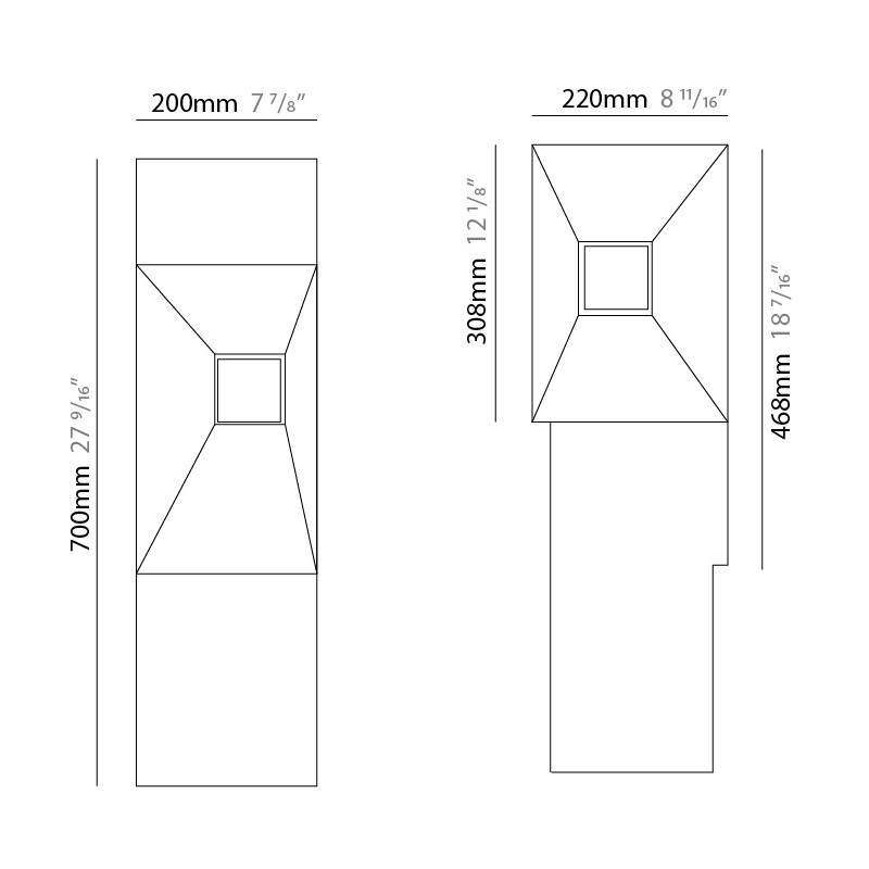 Block by Platek – 8 11/16″ x 27 9/16″ Post, Bollard offers high performance and quality material   Zaneen Exterior