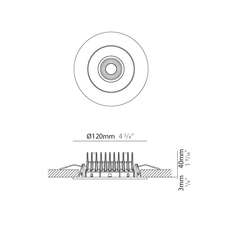 Bridge by Milan – 4 3/4″ x 1 9/16″ Recessed, Downlight offers quality European interior lighting design   Zaneen Design