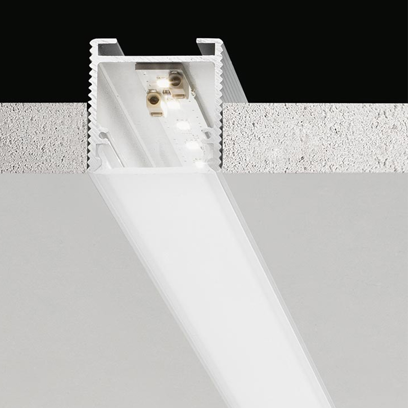 Brooklyn by Panzeri – Custom length″ x 1 3/8″ Trimless, Profile offers LED lighting solutions | Zaneen Architectural