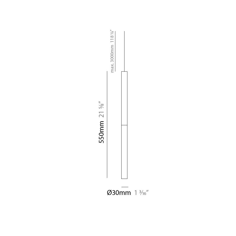 Candle by Panzeri – 1 3/16″ x 21 5/8″ Suspension, Pendant offers quality European interior lighting design | Zaneen Design