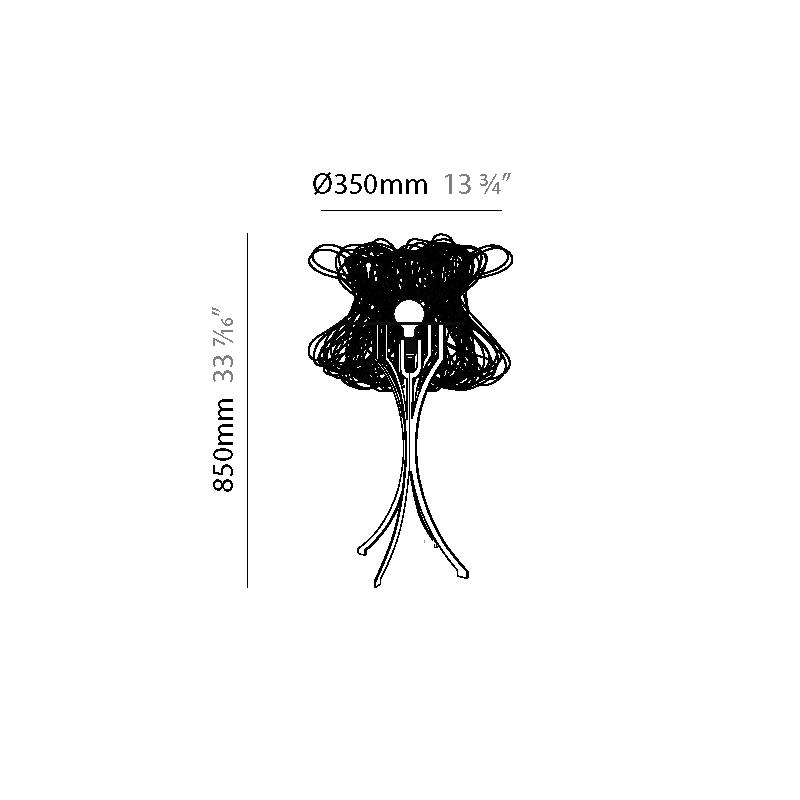 Cloche by Quasar – 13 3/4″ x 33 7/16″ Portable, Ambient offers quality European interior lighting design | Zaneen Design