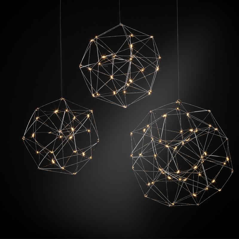 Cosmos Globe by Quasar – 31 1/2″ x 31 1/2″ Suspension, Ambient offers quality European interior lighting design | Zaneen Design