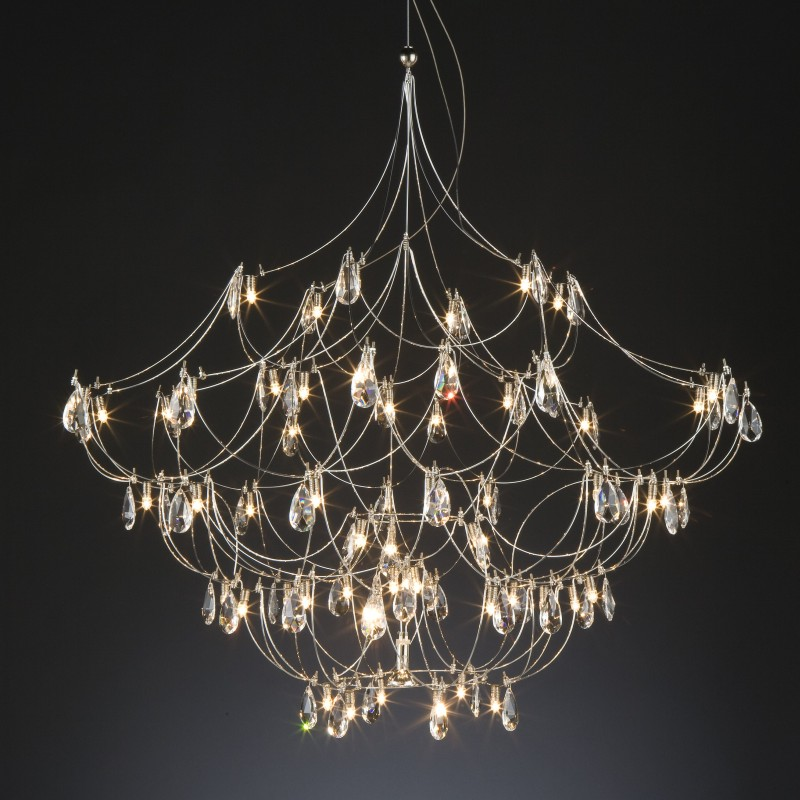 Crystal Galaxy by Quasar – 63″ x 63″ Suspension, Ambient offers quality European interior lighting design | Zaneen Design