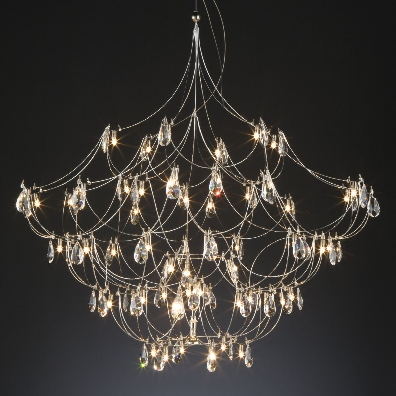 Crystal Galaxy by Quasar – 70 7/8″ x 70 7/8″ Suspension, Ambient offers quality European interior lighting design | Zaneen Design