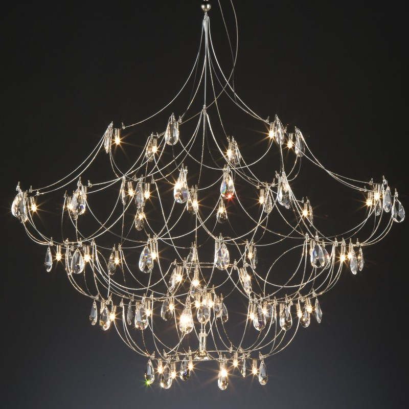 Crystal Galaxy by Quasar – 78 3/4″ x 78 3/4″ Suspension, Ambient offers quality European interior lighting design | Zaneen Design