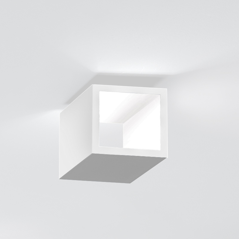 Cubo by Icone – 4 5/16″ x 3 15/16″ Surface, Uplight offers quality European interior lighting design   Zaneen Design