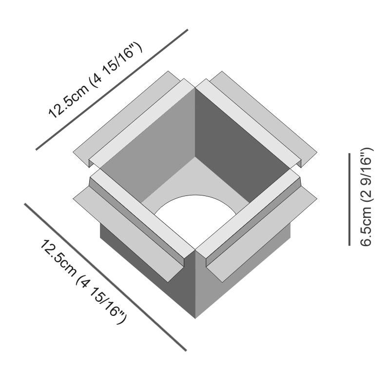 Darma by Icone – 4 15/16″ x 2 9/16″ Recessed,  offers quality European interior lighting design | Zaneen Design