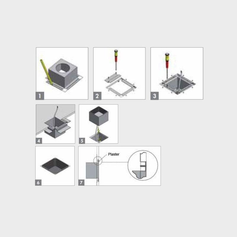 Darma by Icone – 6 1/2″ x 3 1/8″ Recessed,  offers quality European interior lighting design | Zaneen Design