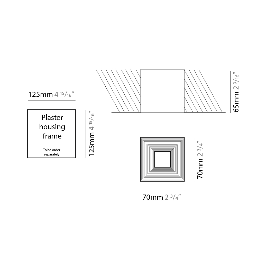 Darma by Icone – 2 3/4″ x 2 9/16″ Recessed, Downlight offers quality European interior lighting design   Zaneen Design