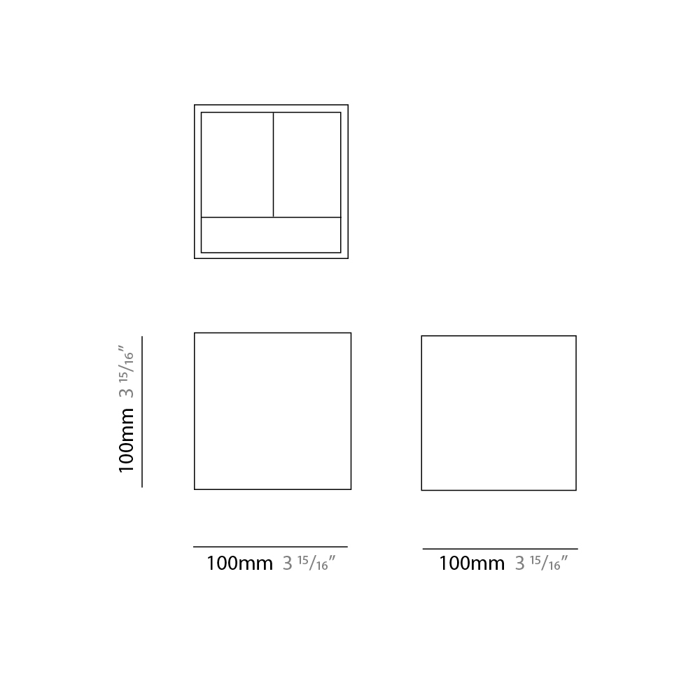 Draco by Panzeri – 3 15/16″ x 3 15/16″ Surface, Pedestrian offers high performance and quality material   Zaneen Exterior / Line art
