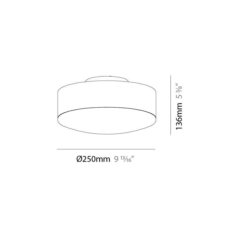 Emboss by Milan – 9 13/16″ x 5 3/8″ Surface, Ambient offers quality European interior lighting design | Zaneen Design / Line art
