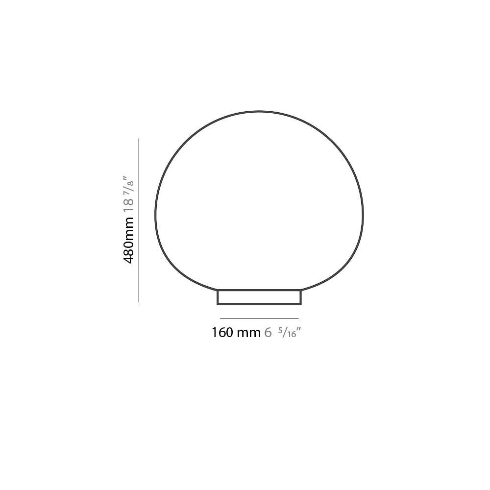 Emisfero by Icone – 18 7/8″ Portable, Table offers quality European interior lighting design | Zaneen Design