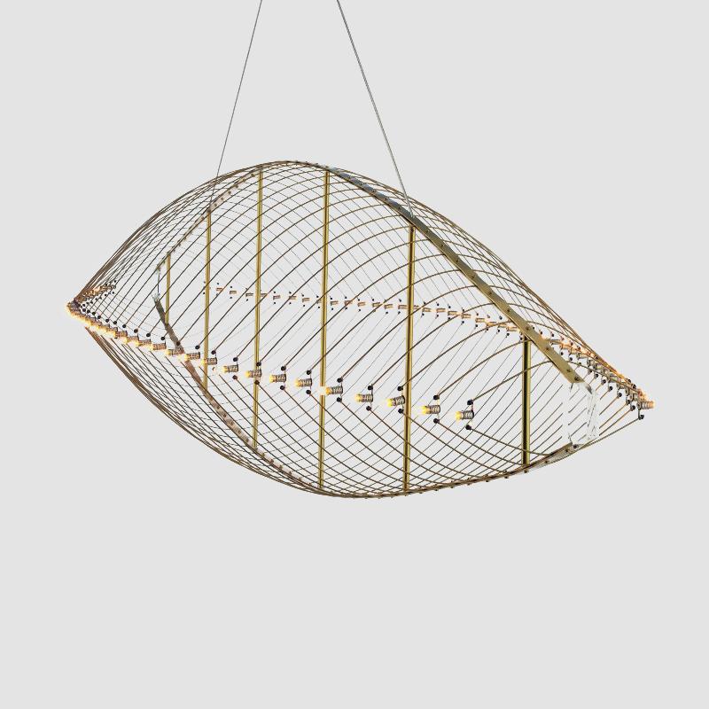 Fieltebek by Quasar – 59 1/16″ x 17 11/16″ Suspension, Ambient offers quality European interior lighting design | Zaneen Design