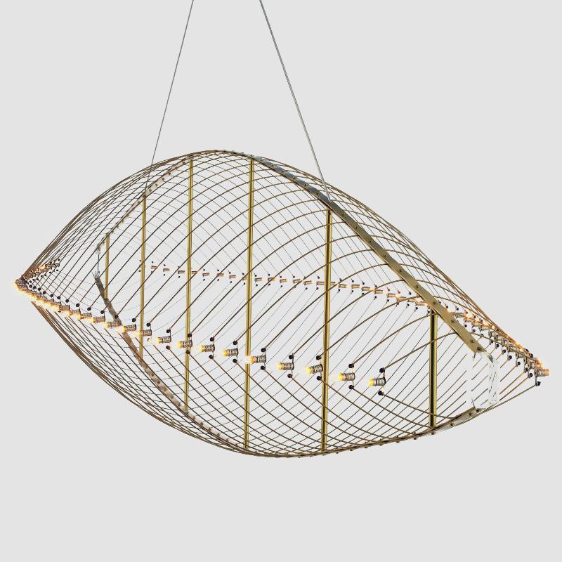 Fieltebek by Quasar – 78 3/4″ x 21 5/8″ Suspension, Ambient offers quality European interior lighting design | Zaneen Design