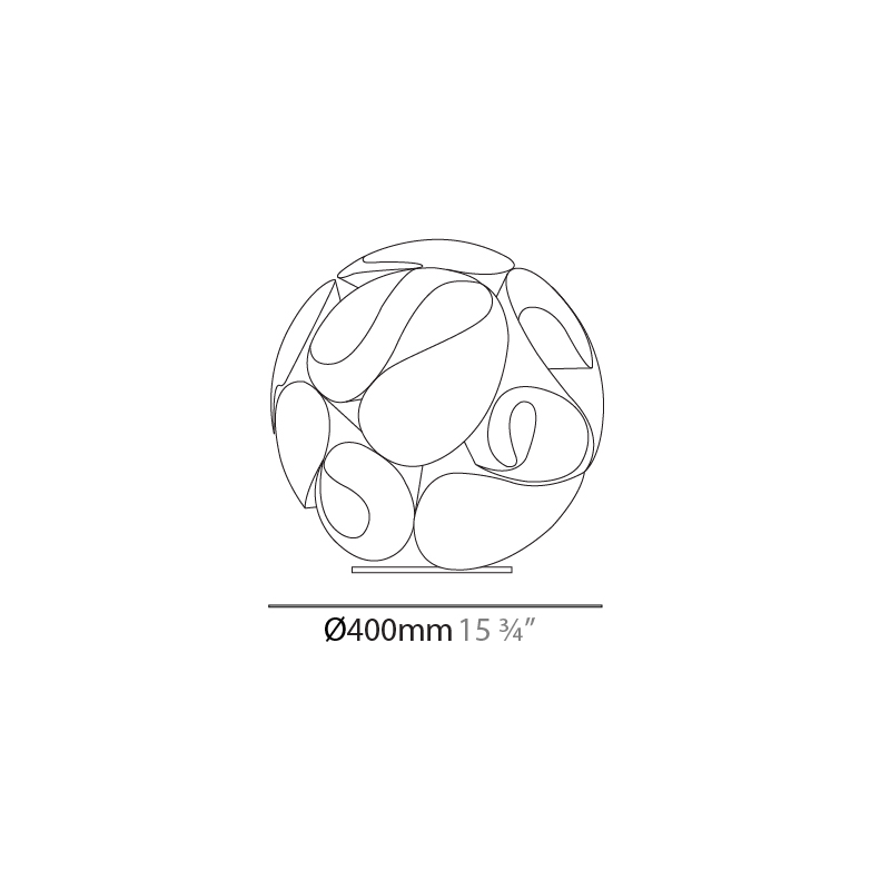 Floral by Panzeri – 15 3/4″ x 15 3/4″ Portable, Floor offers quality European interior lighting design | Zaneen Design