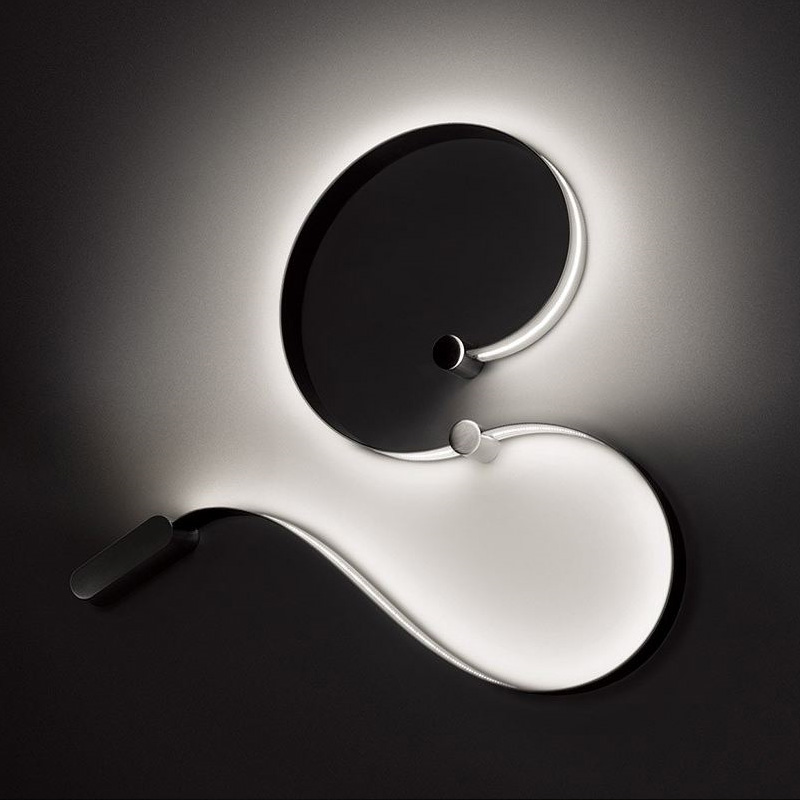 Formala by Cini & Nils – 94 1/2″ Surface, Wall Effect offers quality European interior lighting design | Zaneen Design