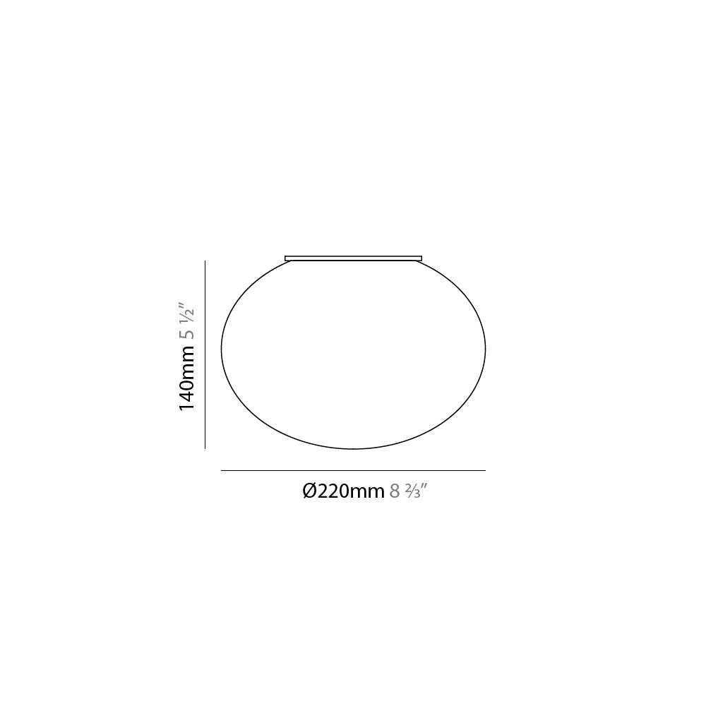 Gilbert by Panzeri – 17 11/16″ x 13″ Surface, Ambient offers quality European interior lighting design   Zaneen Design