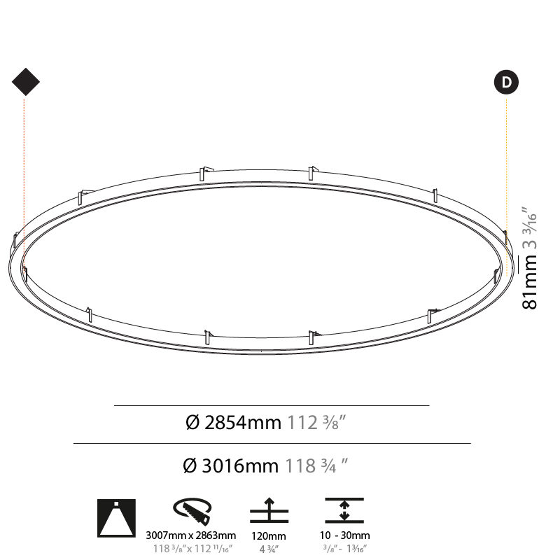 Glorious by Prolicht – 118 3/4″ x 3 3/16″ Recessed, Ambient offers LED lighting solutions | Zaneen Architectural