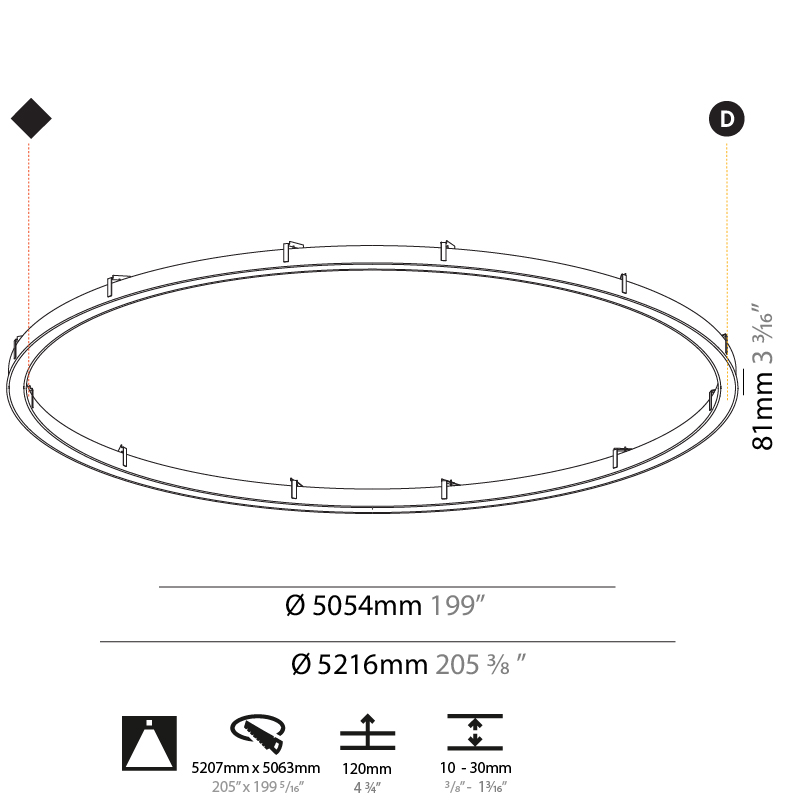Glorious by Prolicht – 205 3/8″ x 3 3/16″ Recessed, Ambient offers LED lighting solutions | Zaneen Architectural