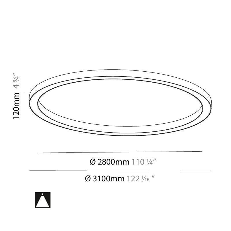 Glorious by Prolicht – 122 1/16″ x 4 3/4″ Surface, Ambient offers LED lighting solutions | Zaneen Architectural