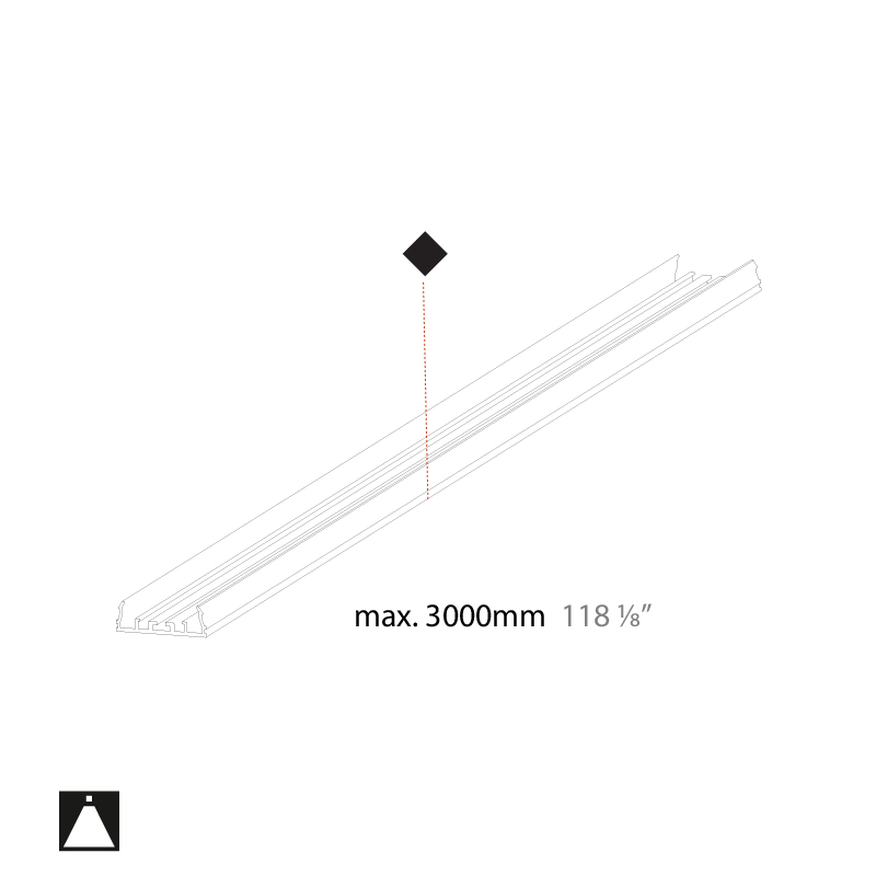 Groove by Prolicht – 39 3/8″ x 9/16″ , Profile offers LED lighting solutions   Zaneen Architectural