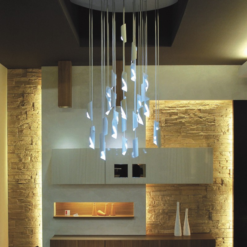 HUE by Knikerboker – 27 9/16″ x 6 5/16″ Suspension, Ambient offers quality European interior lighting design | Zaneen Design