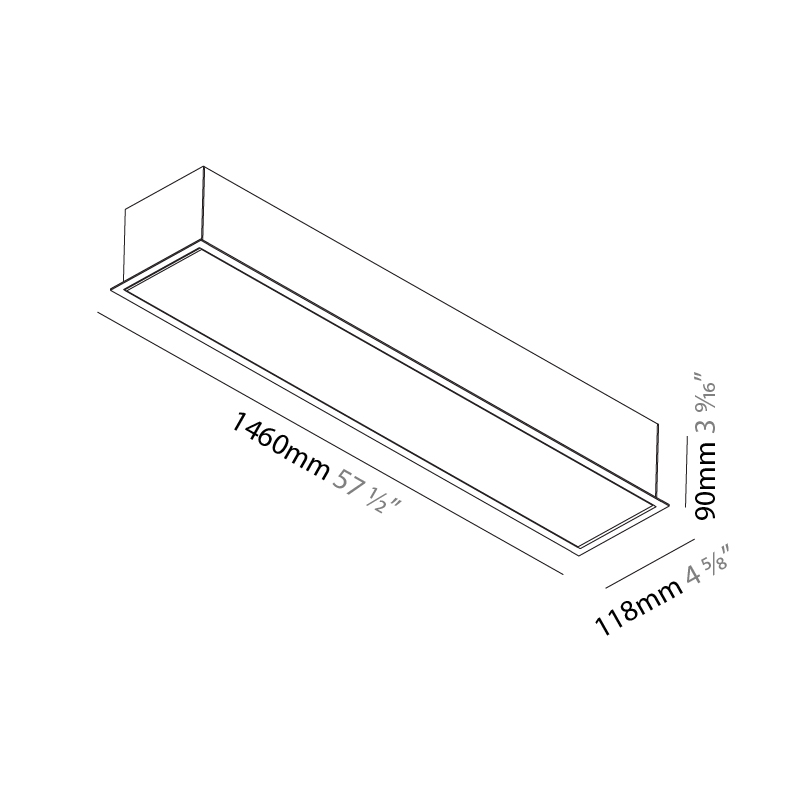Idaho by Prolicht – 57 1/2″ x 3 9/16″ Recessed, Profile offers LED lighting solutions | Zaneen Architectural