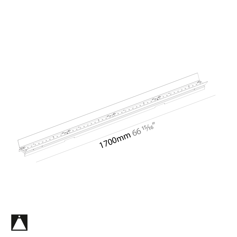 Idaho by Prolicht – 66 15/16″ x 2 9/16″ ,  offers LED lighting solutions | Zaneen Architectural