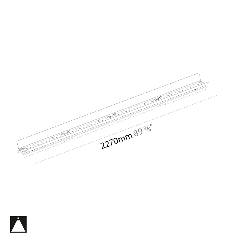 Idaho by Prolicht – 89 3/8″ x 2 9/16″ ,  offers LED lighting solutions | Zaneen Architectural