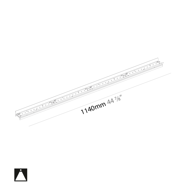 Idaho by Prolicht – 44 7/8″ x 1 1/4″ ,  offers LED lighting solutions   Zaneen Architectural