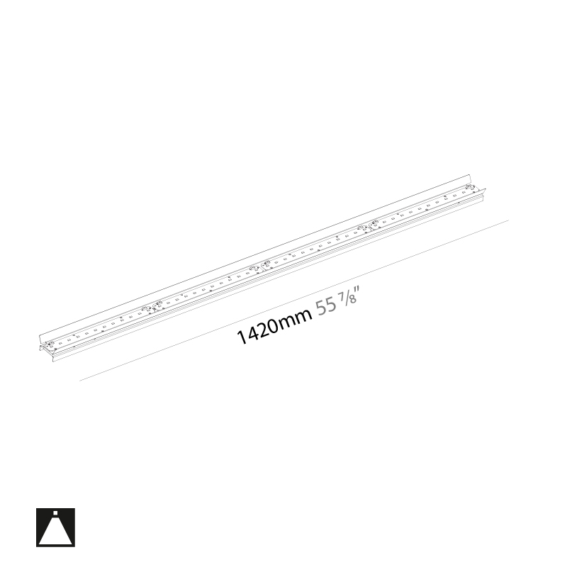 Idaho by Prolicht – 55 7/8″ x 1 1/4″ ,  offers LED lighting solutions | Zaneen Architectural