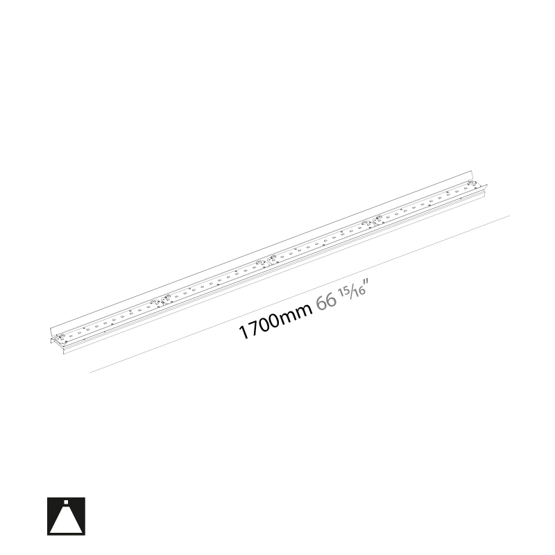 Idaho by Prolicht – 66 15/16″ x 1 1/4″ ,  offers LED lighting solutions | Zaneen Architectural