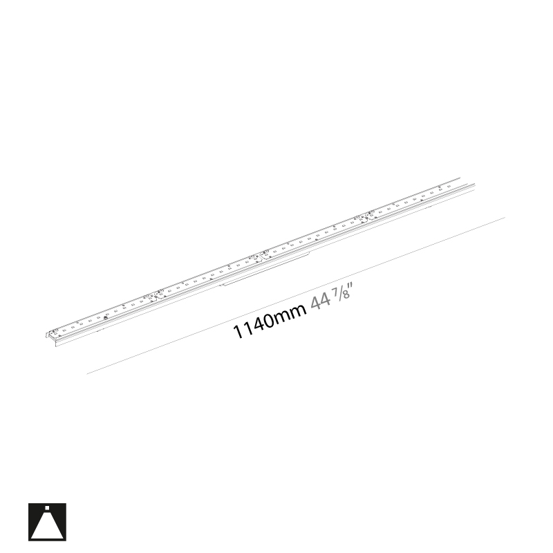 Idaho by Prolicht – 44 7/8″ x 2 9/16″ ,  offers LED lighting solutions   Zaneen Architectural