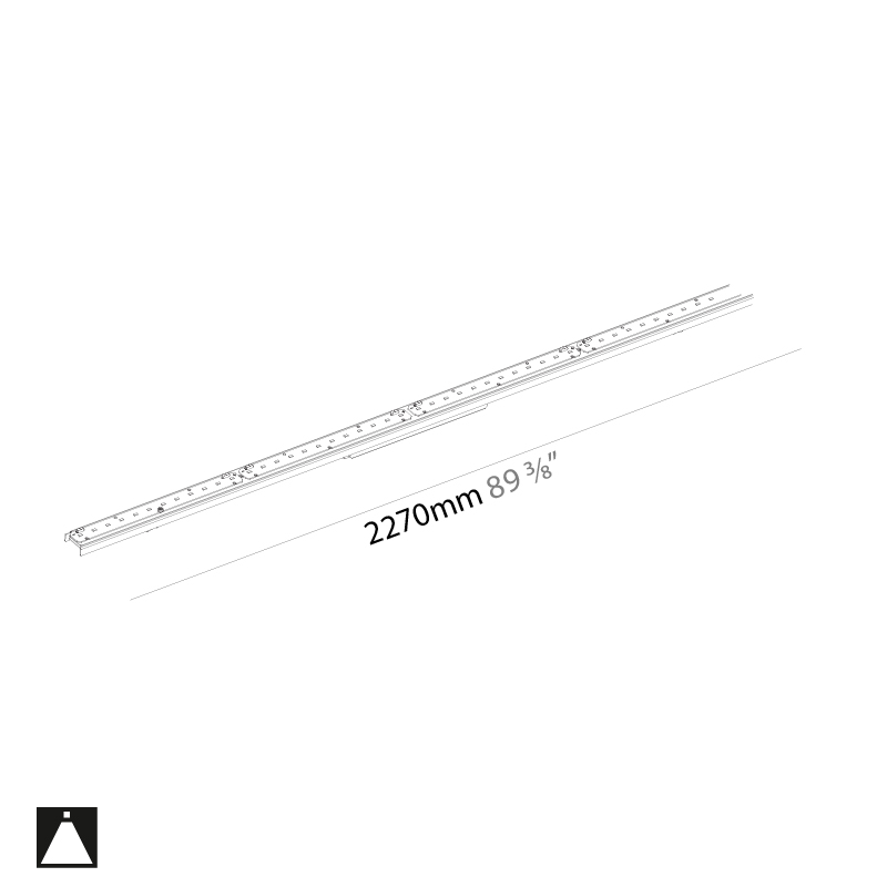 Idaho by Prolicht – 89 3/8″ x 1 7/16″ Trimless,  offers LED lighting solutions | Zaneen Architectural