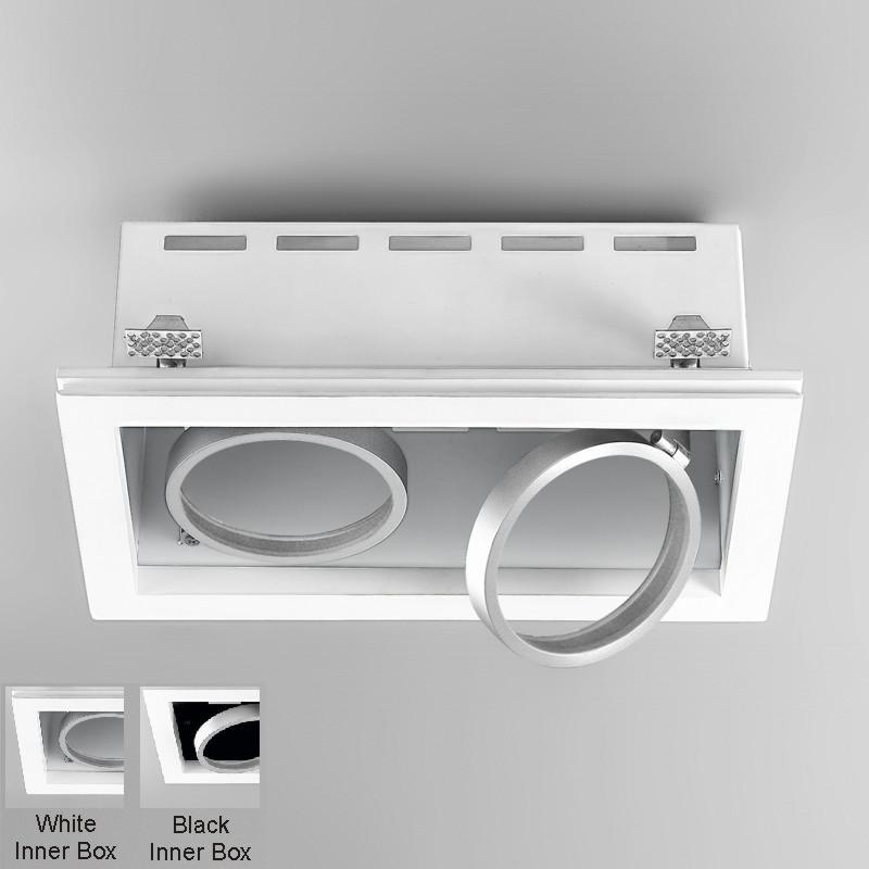Invisibili by Panzeri – 13 3/4″ x 4 3/4″ Trimless, Spots offers quality European interior lighting design | Zaneen Design