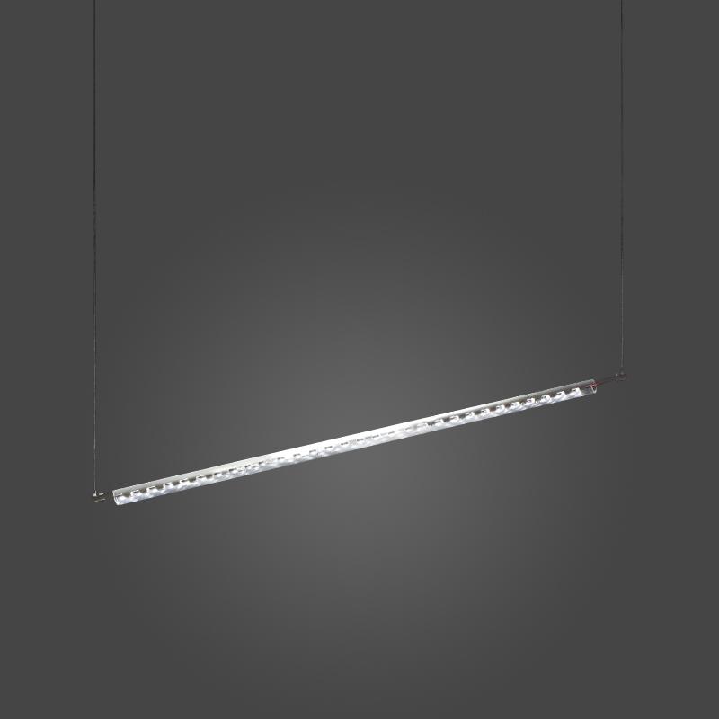 Ixion by Quasar – 47 1/4″ x 1 3/16″ Suspension, Ambient offers quality European interior lighting design   Zaneen Design