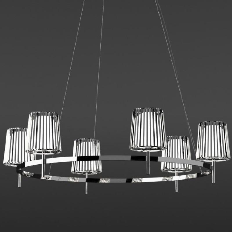 Julia by Quasar – 39 3/8″ x 13 3/4″ Suspension, Ambient offers quality European interior lighting design | Zaneen Design