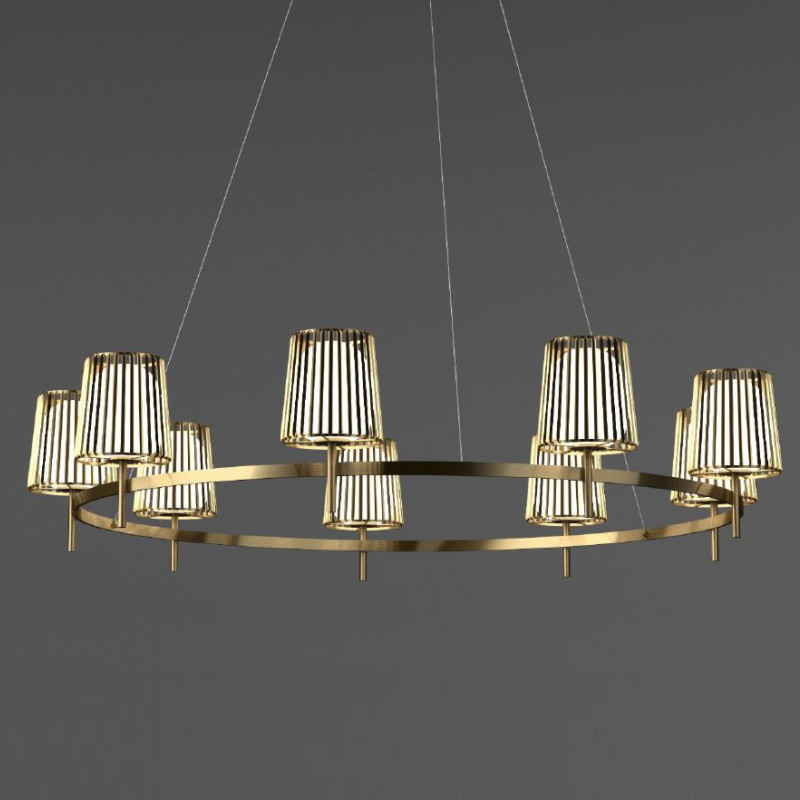 Julia by Quasar – 63″ x 72 13/16″ Suspension, Ambient offers quality European interior lighting design | Zaneen Design