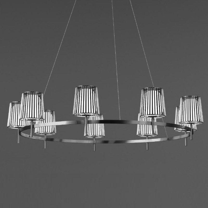 Julia by Quasar – 63″ x 13 3/4″ Suspension, Ambient offers quality European interior lighting design | Zaneen Design
