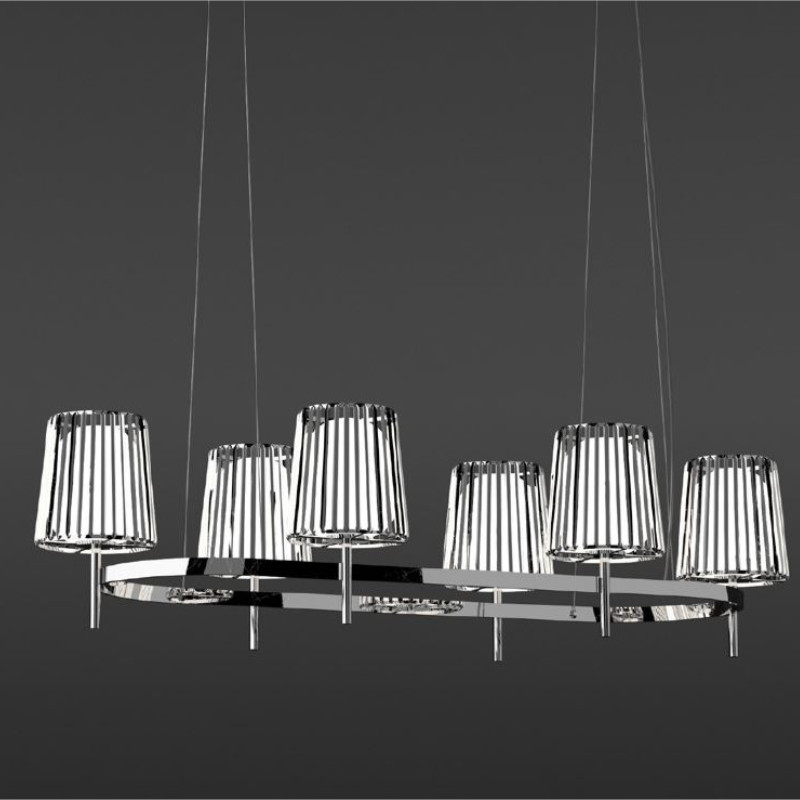 Julia by Quasar – 72 13/16″ x 13 3/4″ Suspension, Ambient offers quality European interior lighting design | Zaneen Design