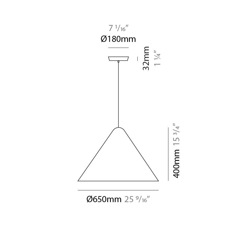 Konica by Fambuena – 25  9/16″ x 15 3/4″ Suspension, Pendant offers quality European interior lighting design | Zaneen Design